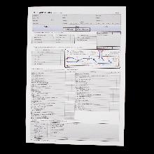 Prüfungsprotokoll für die Fahrprüfung Klasse F gemäß FSG § 11 Abs. 7