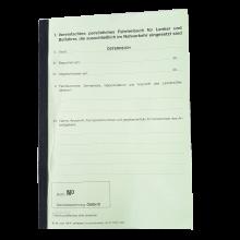 Ein vereinfachtes persönliches Fahrtenbuch für Lenker und Beifahrer, die ausschließlich im Nahverkehr eingesetzt sind in der Farbe grün
